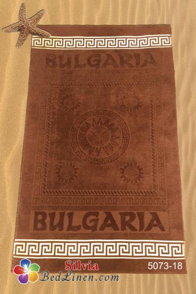 Плажна кърпа България - светло кафява